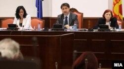Собраниска комисија за финансирање и буџет. Претседателот на Комисијата Марјанчо Николов.