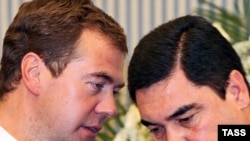 Russian President Dmitry Medvedev makes a working visit to Turkmenistan on October 21-22.