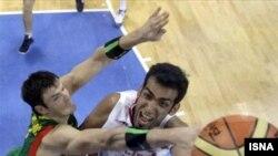حريف بعدی ايران، تیم ملی بسکتبال آرژانتين است.(عکس: ایسنا)
