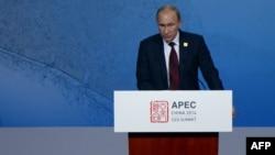Президент России Владимир Путин на саммите АТЭС. Пекин, 10 ноября 2014 года.