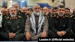Iran -- Top IRGC commanders (L2R): Ali Fadavi, Mohammadreza Naghdi, and AmirAli Hajizadeh in a meeting of IRGC commander with Iran's Supreme Leader Ali Khamenei, undated.