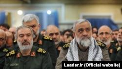 Top IRGC commanders Ali Fadavi, (L) Mohammadreza Naghdi (R). FILE PHOTO