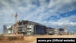 Строительство нового терминала аэропорта «Симферополь», август 2017 года