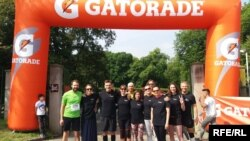 RFE/RL colleagues joined Prague Pride's LGBT charity run at Stromovka park on May 19, 2018.