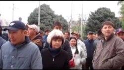 """""""Кудайбергендин"""" соодагерлери митингге чыкты"""