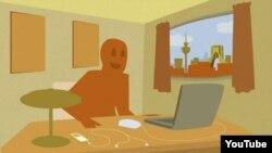صحنه ای از انیمیشن پرده الکترونیکی