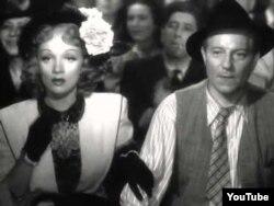 """Jaen Gabinlə Marlene Dietrich """"Martin Roumagnac"""" filmində."""