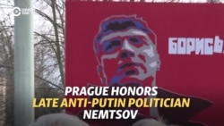 Prague Renames Square Near Russian Embassy After Slain Opposition Leader Nemtsov