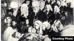Атай Огомбаевди акыркы сапарга узатуу. 20-декабрь, 1949