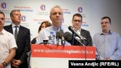 Mlađan Dinkić u obraćanju novinarima, 30. jul 2013.