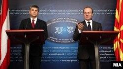 Милошоски на прес конференција со австрискиот министер Шпинделегер во Скопје