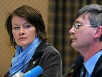 Gunnarsdottir (left) says that her organization is not the 'election police' (file photo)