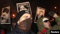 Мәскеудің орталығында болған антифашистік шеру. Мәскеу, 19 қаңтар 2011 жыл.