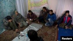 شماری از مهاجرین در کمپ کاله فرانسه