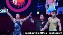 Акжол Махмудов 2018-жылы Азия чемпионатын жеңген учуру.