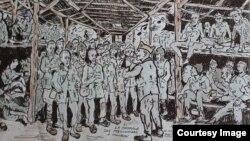 Рисунок заключенного лагеря для военнопленных в Тамбове
