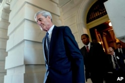 Former FBI Director Robert Mueller, the special counsel investigating alleged Russian meddling in the 2016 election and possible collusion by associates of U.S. President Donald Trump.