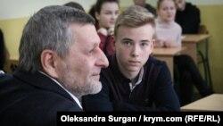 Ахтем Чийгоз на встрече с учениками львовской школы №2