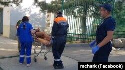Эвакуация и госпитализация пострадавших в результате падения с лошади в Крыму