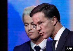 Герт Вилдерс и Марк Рютте на единственных между собой дебатах