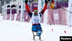 Cочи олимпиадасынын чемпиону Роман Петушков, 14.03.2014.