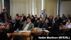 Голосование в городском совете Петрозаводска