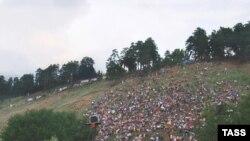 Недостатка в зрителях Фестивальна гора, как обычно, не испытывала