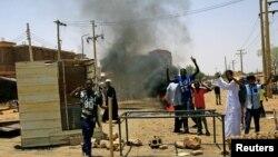 Протесты в столице Судана Хартуме, 5 июня 2019 года