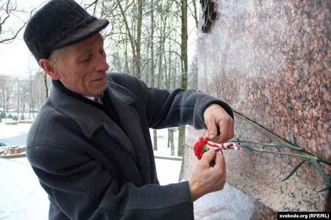 Один из найстаэйшых витебских «фронтовцев» Петр Сарапеня