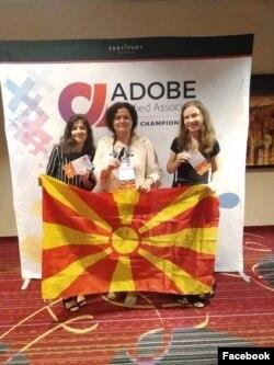 (од лево) Сара Мисајловска, Жаклина Прекиќ и Ана Марија Атанасовска