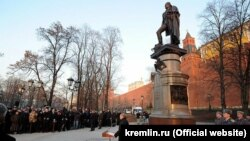 Владимир Путин открывает памятник Александру I 20.11.2014.