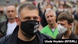 Belarusian vlogger Syarhey Tsikhanouski (file photo)