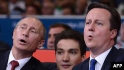 Президент Росії Володимир Путін разом із британським прем'єром Дейвідом Камероном відвідав фінали Олімпіади з боротьби дзюдо