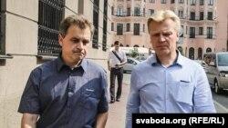 Анатоль Лябедзька і Віталь Рымашэўскі, архіўнае фота