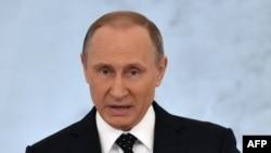 Президент России Владимир Путин выступает с посланием к Федеральному собранию. Москва, 3 декабря 2015 года.