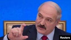 Александр Лукашенко на пресс-конференции. Минск, 29 января