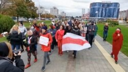 Women March For New Elections In Belarus