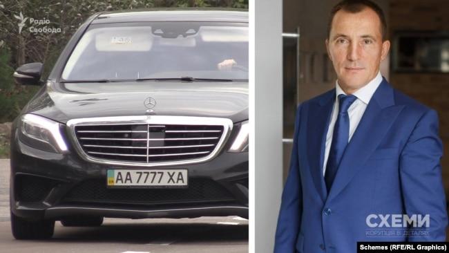 Mercedes із чотирма сімками, за інформацією джерел у поліції, зареєстрований на Володимира Продивуса
