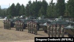 Kontingjenti i fundit i mjeteve ushtarake, 10 autoblinda të tipit BRDM -2, të cilat Rusia ia dhuroi Serbisë.