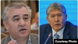 Kyrgyz opposition leader Omurbek Tekebaev (left) and President Almazbek Atambaev had enjoyed cordial relations until last summer. (file photo)