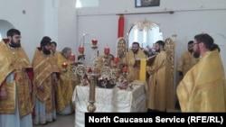 Освящение отреставрированной церкви в Северной Осетии, фото из архива
