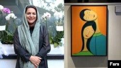 تهمینه میلانی در افتتاحیه نمایشگاه نقاشیاش