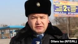 Шерзод Эшматов, начальник штаба дорожно-патрульной полиции Южно-Казахстанской области. Шымкент, 30 января 2018 года.