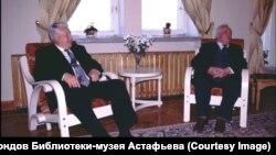 Виктор Астафьев и Борис Ельцин