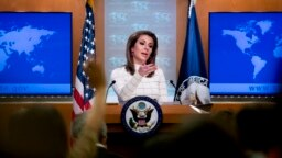 مورگان اورتگاس میگوید «با وجود برخی سخنان در واشینگتن در دو ماه گذشته که دولت در حال حرکت بهسوی جنگ [با ایران] است، ما فکر میکنیم بهمراتب برعکس آن حرفها بود».