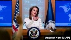 U.S. State Department spokesperson Morgan Ortagus. File photo
