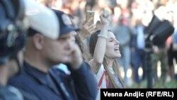 Protest ispred sedišta predsednika Srbije u Beogradu