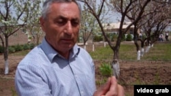 Samvel Ghandilyan is the manager of the Armenia Tree Project's nursery in the village of Karin in western Armenia