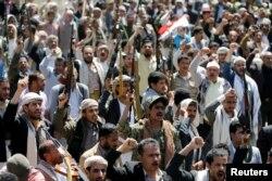 Protest ispred kancelarije UN u Sani u nedjelju nakon subotnjeg napada