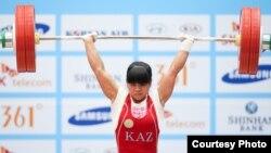 Олимпийская чемпионка казахстанская штангистка Зульфия Чиншанло. Инчхон, 21 сентября 2014 года.